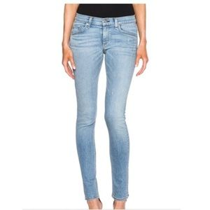 Rag & Bone Light Wash Skinny Jeans in Harbour 25